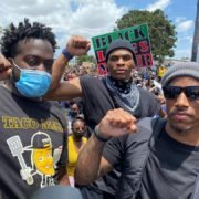 Russell Westbrook protesting with others