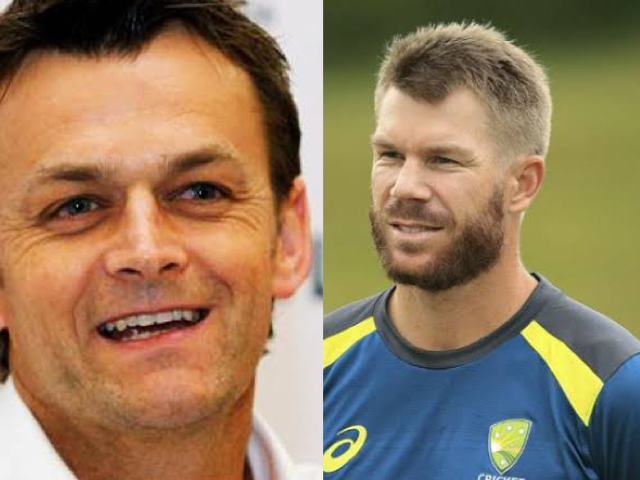 David Warner and Adam Gilchrist