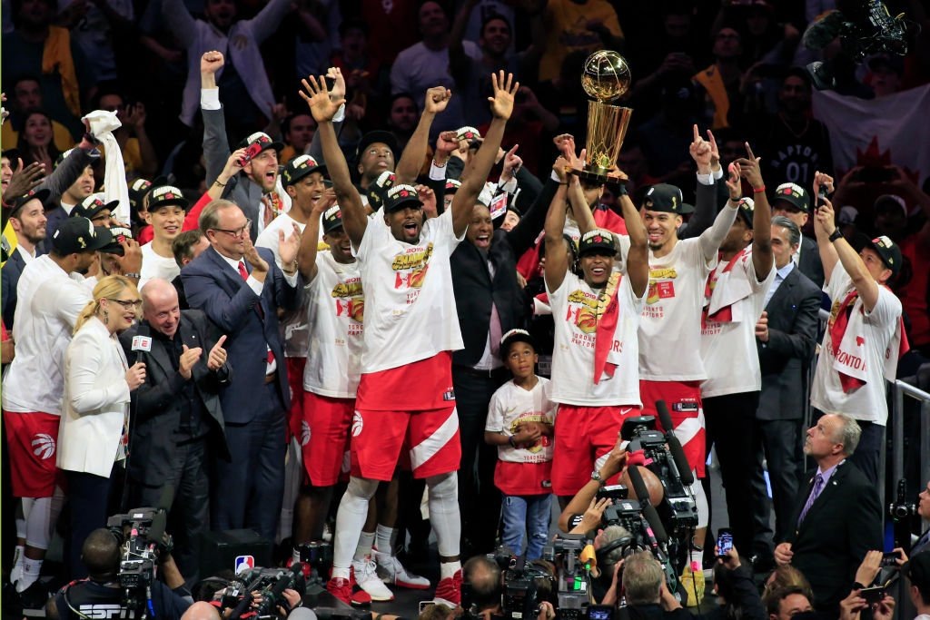 Toronto Raptors with their title