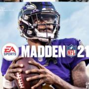 Lamar Jackson on Madden NFL 21's cover