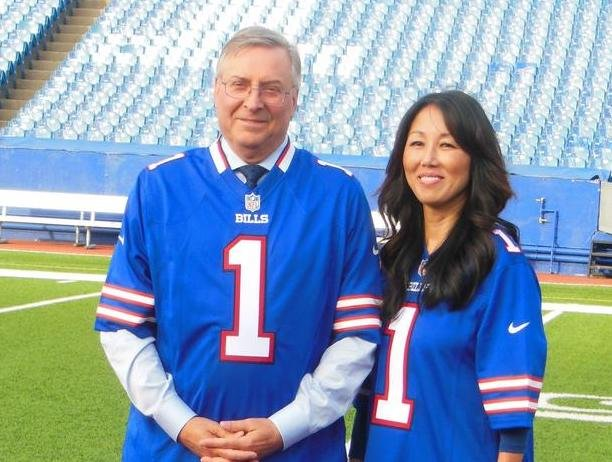 Buffalo Bills owners, Terry and Kim Pegula