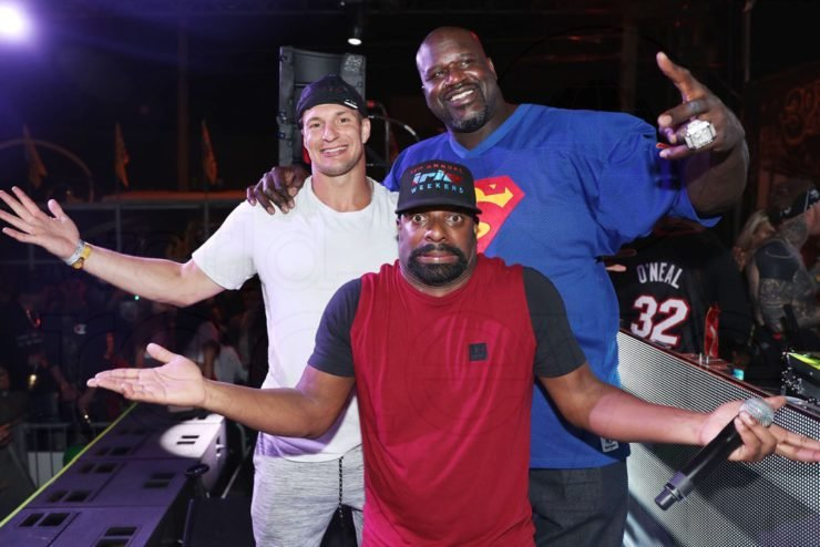 Rob Gronkowski and Shaquille O'Neal