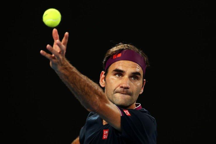 Roger Federer at the Australian Open 2020