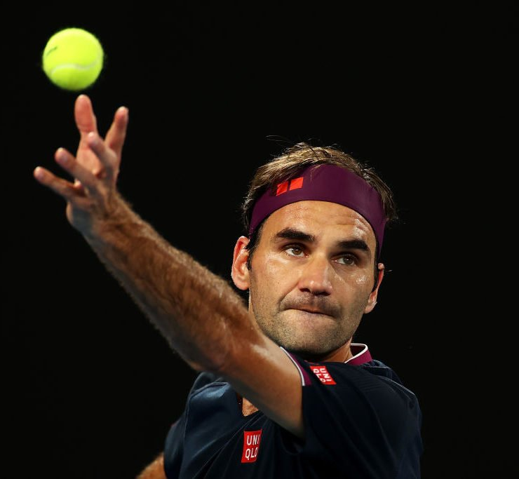 Roger Federer at the Australian Open 2020