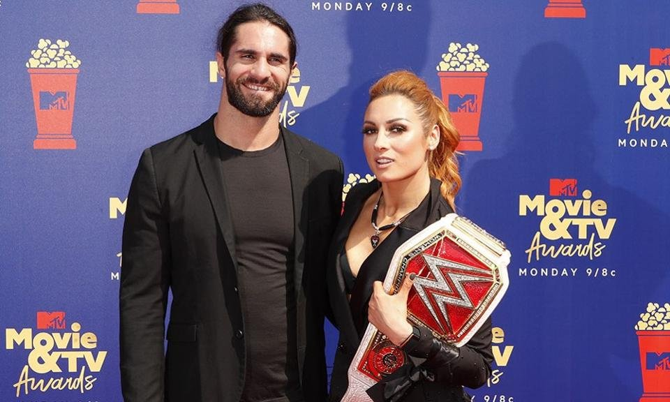Becky Lynch with nice, Fiancé