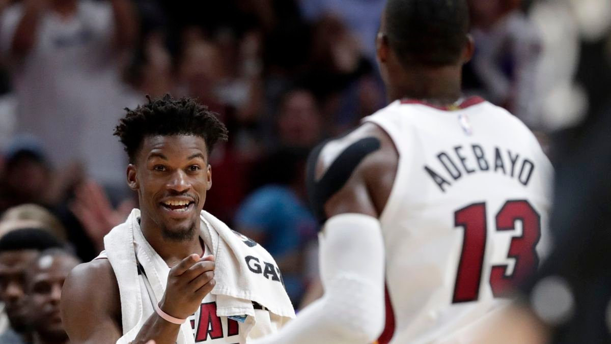 He Is The Reason That We Are Winning Jimmy Butler Heaps Huge Praise For His Miami Heat Teammate Essentiallysports