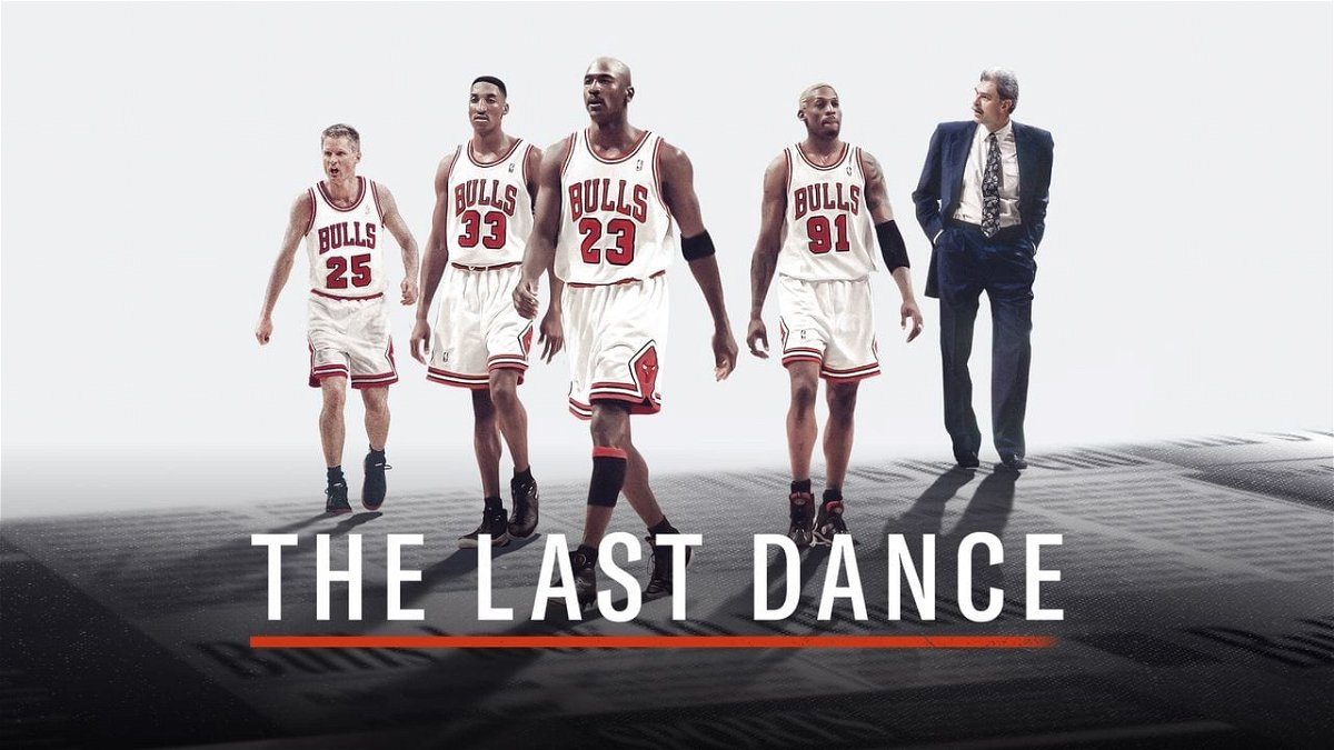 Foto do pôster de The Last Dance, série documental vencedora do Emmy 2020