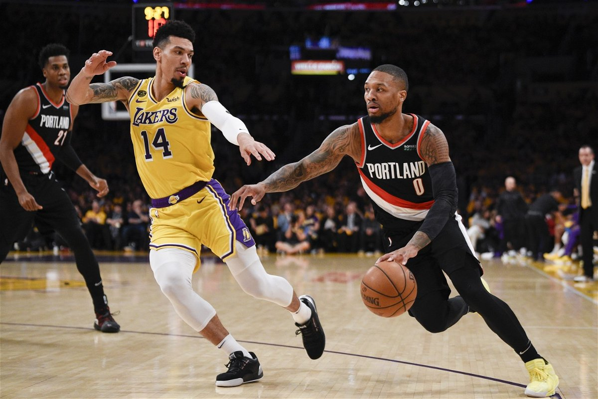 I D Do The Same Lakers Forward Kyle Kuzma Reacts To Damian Lillard S Mid Game Dance During Nba Playoffs Essentiallysports