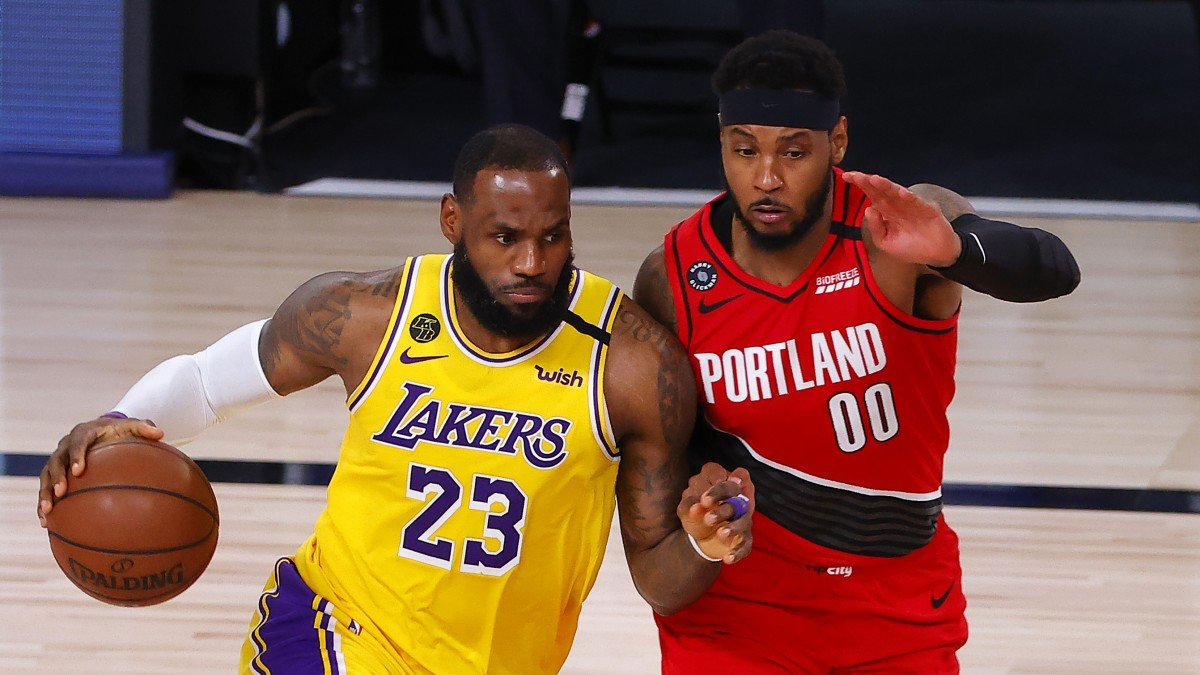 NBA Playoffs: Los Angeles Lakers vs. Portland Trail Blazers Game 3 ...