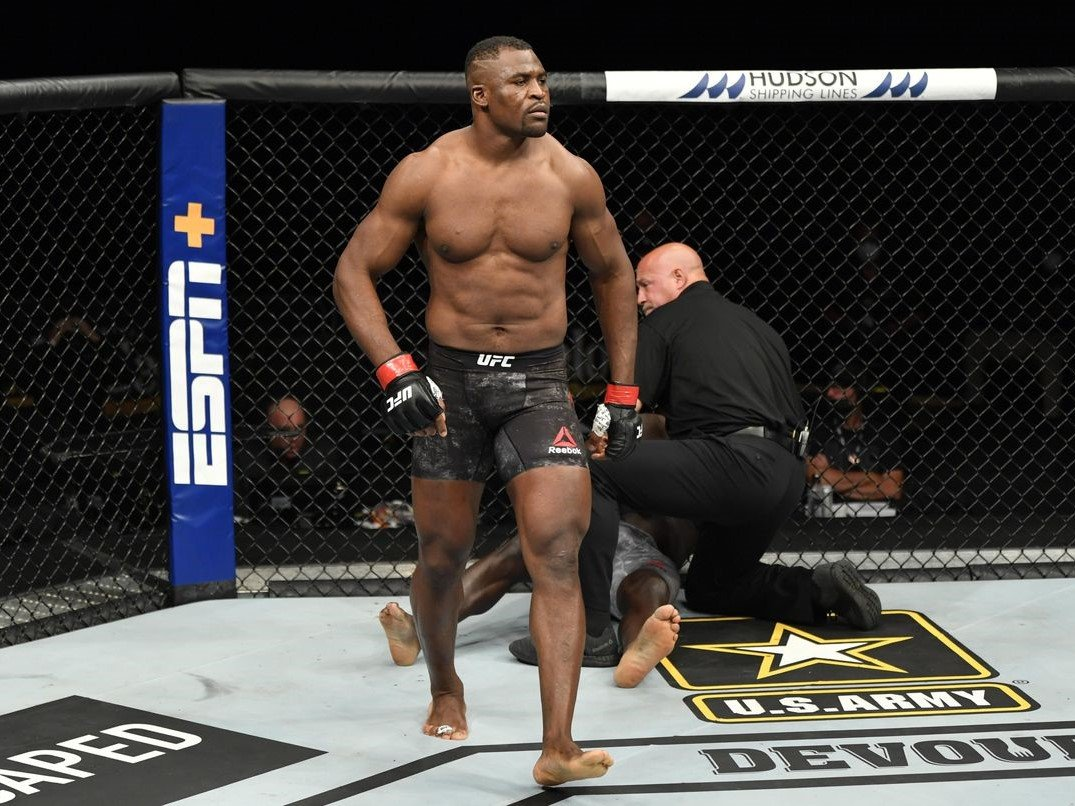"I Told You to Sit Down"" - Francis Ngannou Shuts Down Jon Jones and Calls Out Stipe Miocic - EssentiallySports"