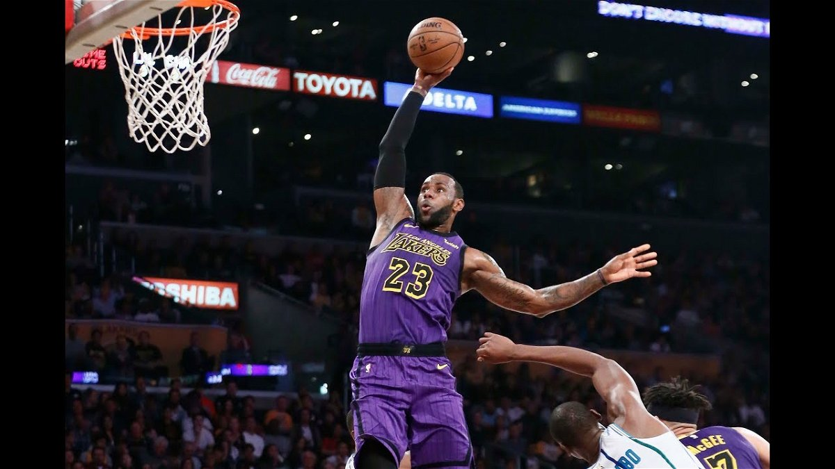 Watch Lakers Lebron James Destroys Russell Westbrook With His Power Bomb Dunk Essentiallysports