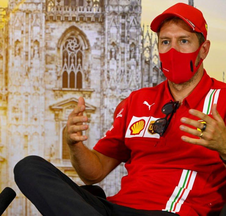 Sebastian Vettel at the Pre-race Press conference for the 2020 Italian Grand Prix