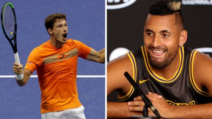 Pablo Carreno Busta on Nick Kyrgios