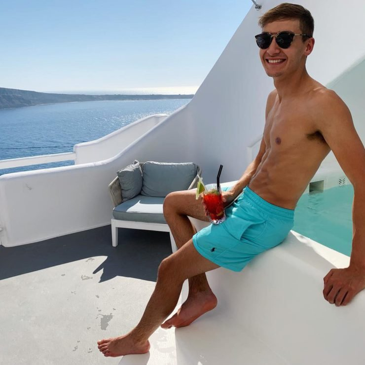 George Russell Poses Shirtless on Instagram Again.