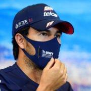 Sergio Perez at the pre race Press Conference ahead of the F1 Tuscan Grand Prix in Mugello