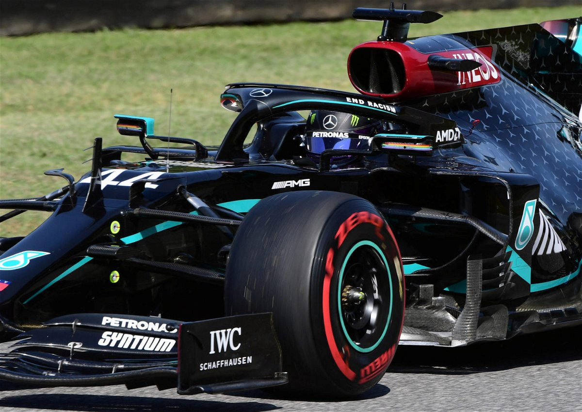 Mercedes' Lewis Hamilton during Free Practice for the F1 Tuscan Grand Prix in Mugello