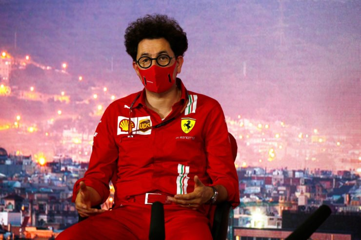 Mattia Binotto during the press conference at Spanish Grand Prix
