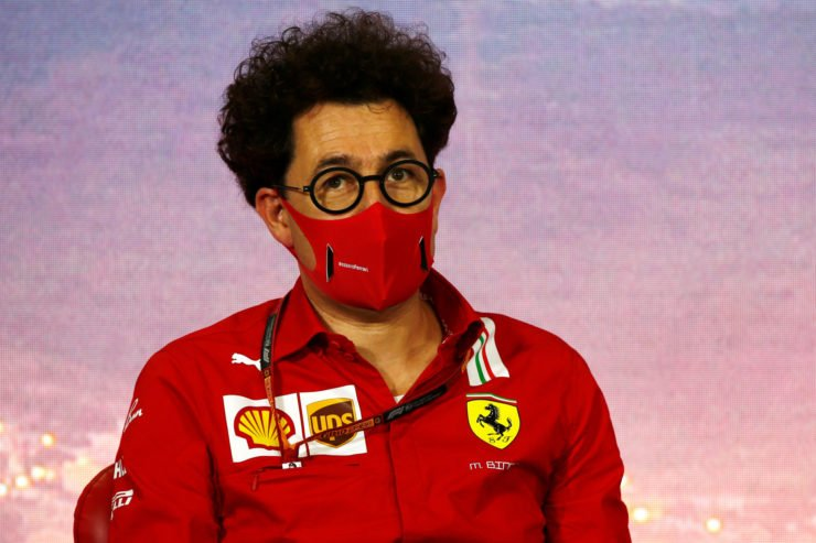 Ferrari team Principal Mattia Binotto before the Spanish Grand Prix