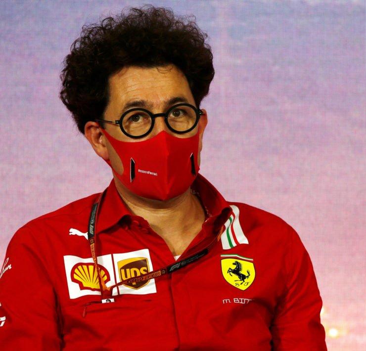 Ferrari team Principal Mattia Binotto before the Spanish Grand Prix