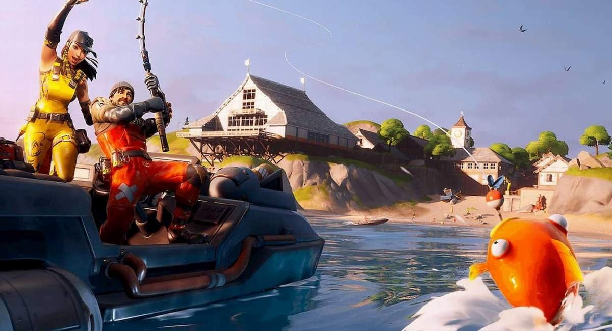 Fishing in Fortnite