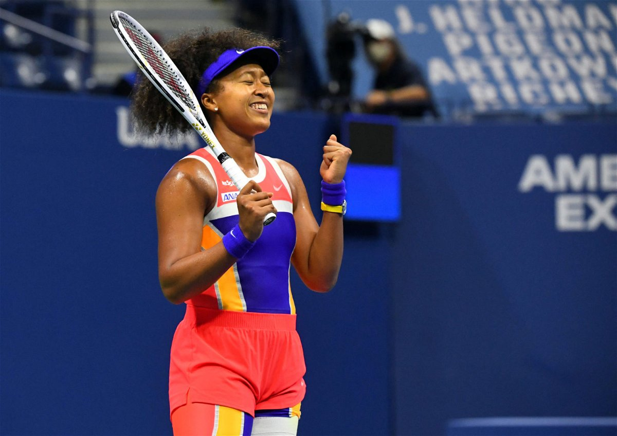 Naomi Osaka expresses her happiness after her Semifinal win at the US Open 2020