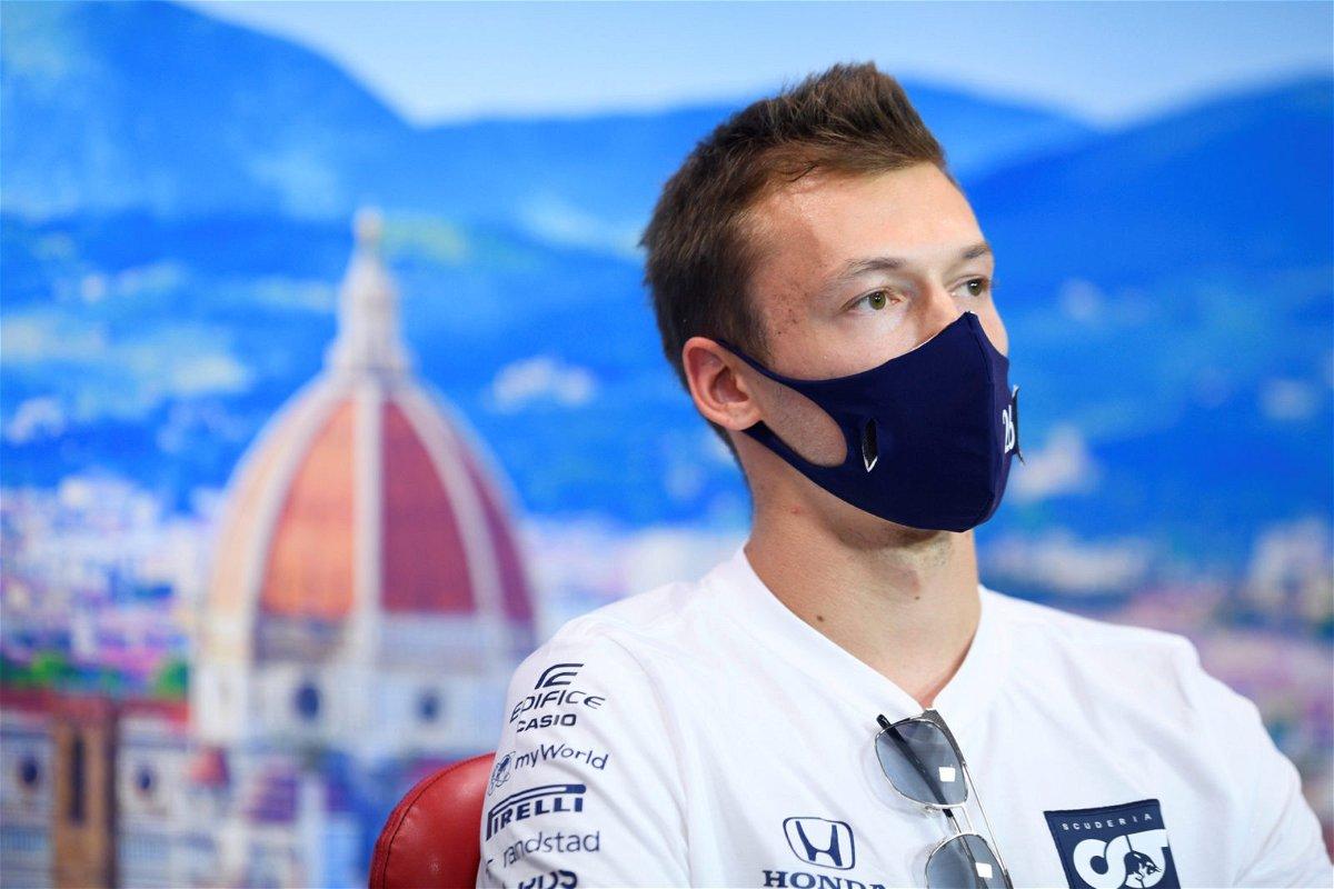 Daniil Kyvat During Tuscan GP Press Conference