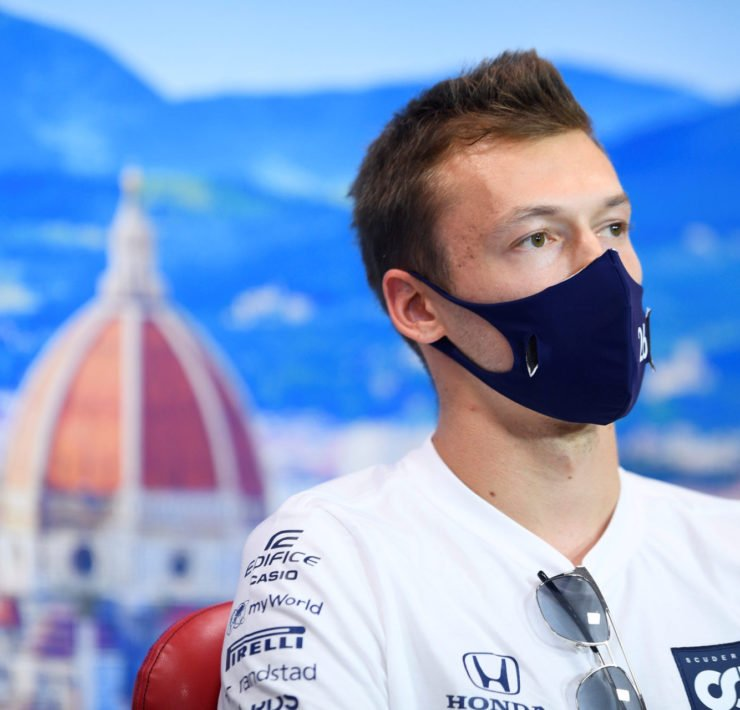 Daniil Kyvat During Tuscan GP Press Conference