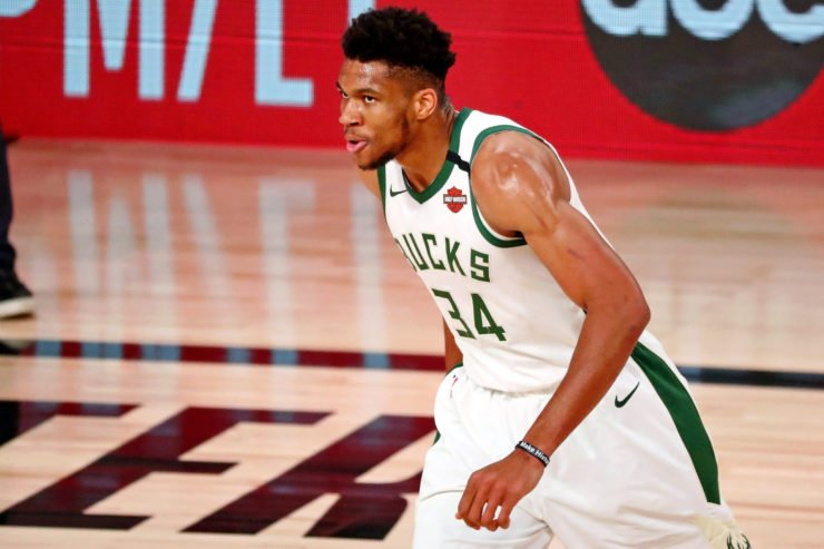 Milwaukee Bucks superstar Giannis Antetokounmpo in playoffs