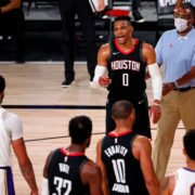 Houston Rockets Russell Westbrook Argues With Rajon Rondo's Brother