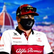 Kimi Raikonnen Speaking At Tuscan GP Press Conference