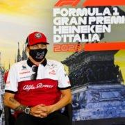 Kimi Raikonnen During The Italian GP Press Conference