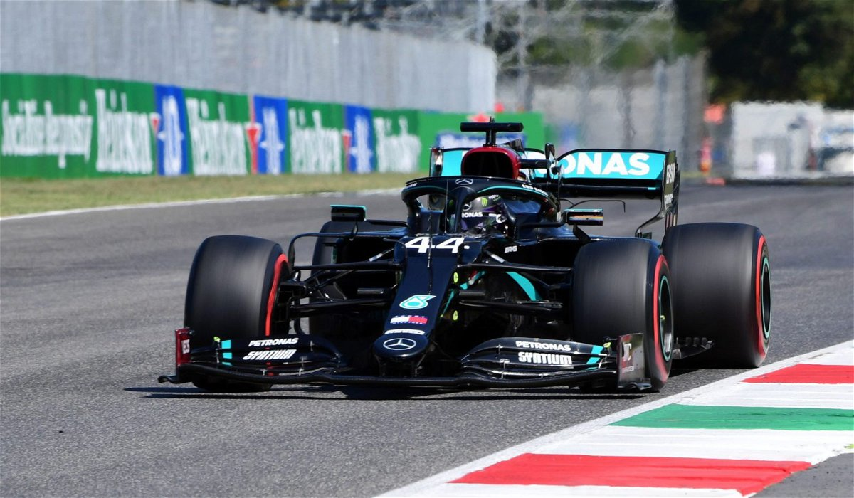 Mercedes' Lewis Hamilton during Qualifying in Mugello For the Tuscan Grand Prix