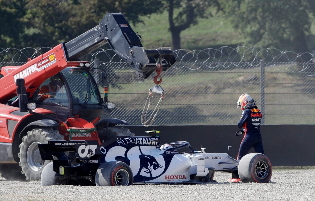 Watch Huge Crash After Safety Car Restart For The F1 Tuscan Grand Prix Essentiallysports