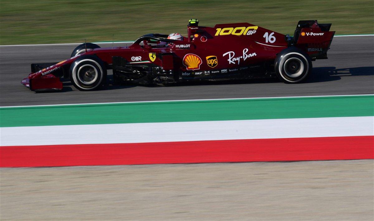 Charles Leclerc's Ferrari zooming at Mugello