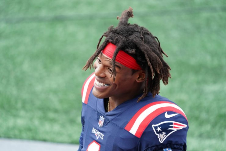 Cam Newton is all smiles on his New England Patriots debut
