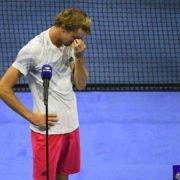 Alexander Zverev crying