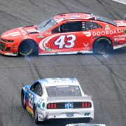 Bubba Wallace in action