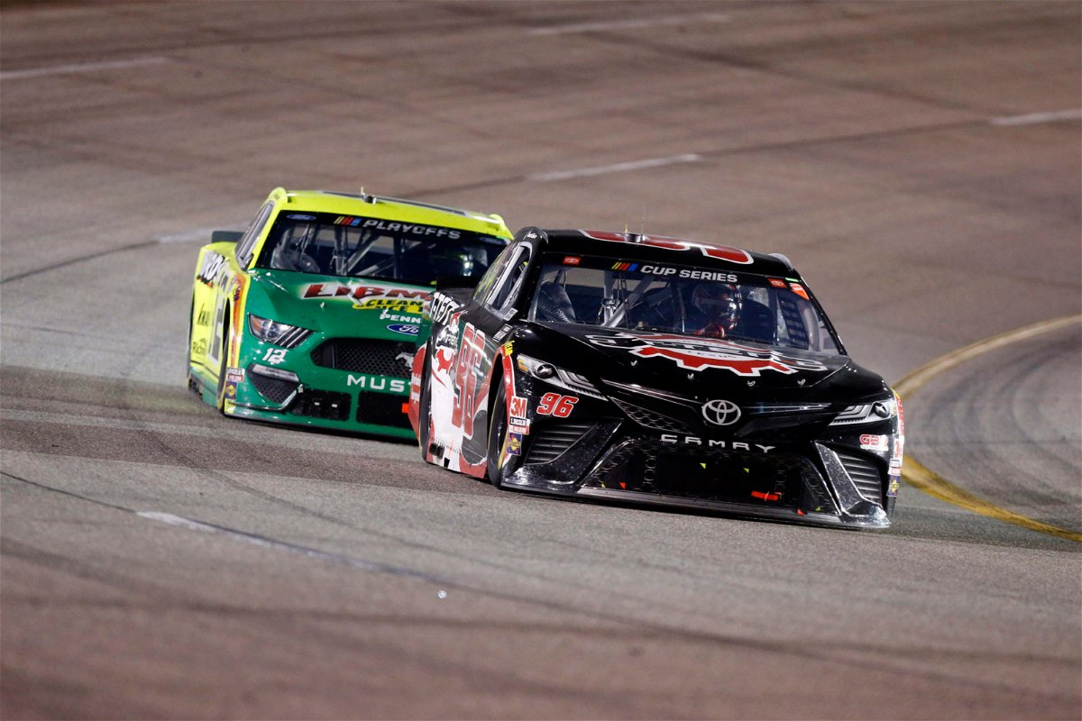 Justin Marks-recruited Daniel Suarez in action in NASCAR Cup Series