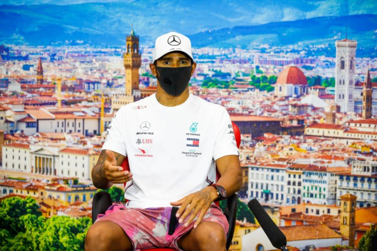 Lewis Hamilton At Tuscan GP Post Match Press Conference