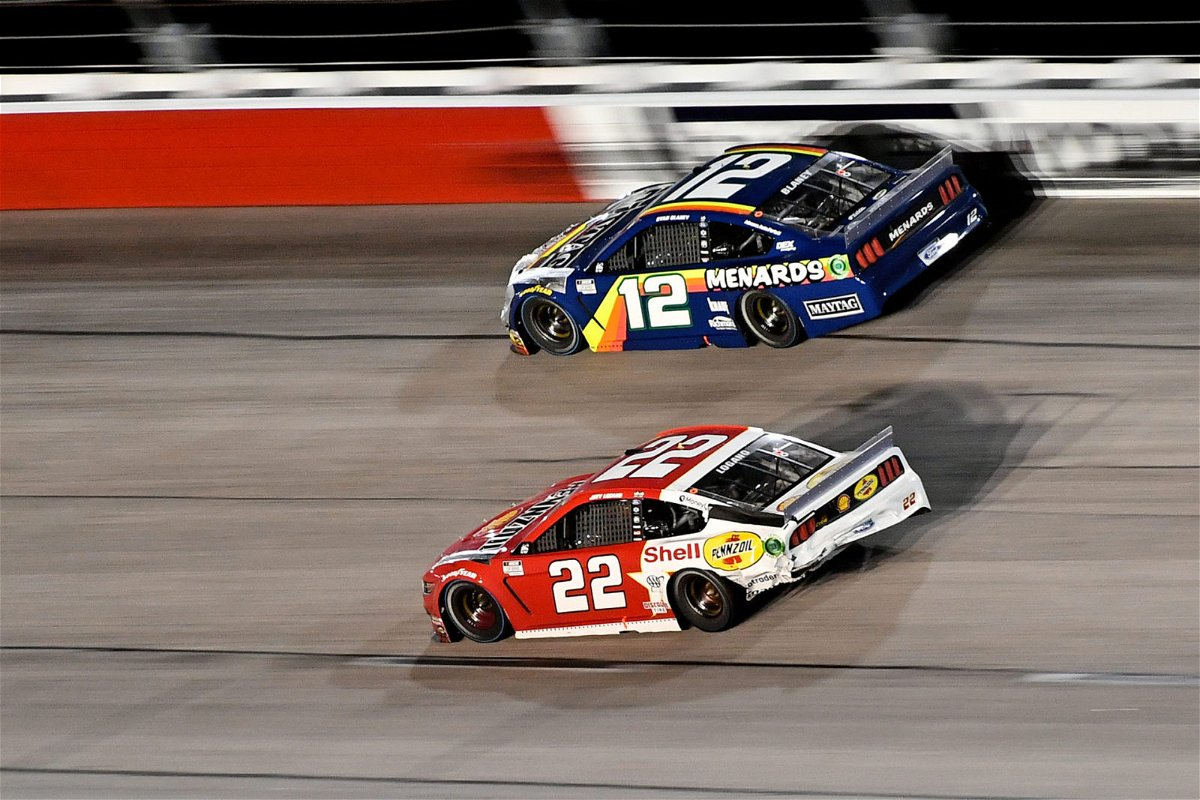 Ryan Blaney and Joey Logano in action in NASCAR