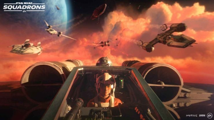 Tar Wars Squadrons screenshot featuring gameplay