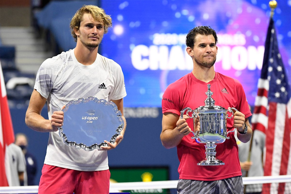 Dominic Thiem and Alexander Zverev at US Open 2020 finals
