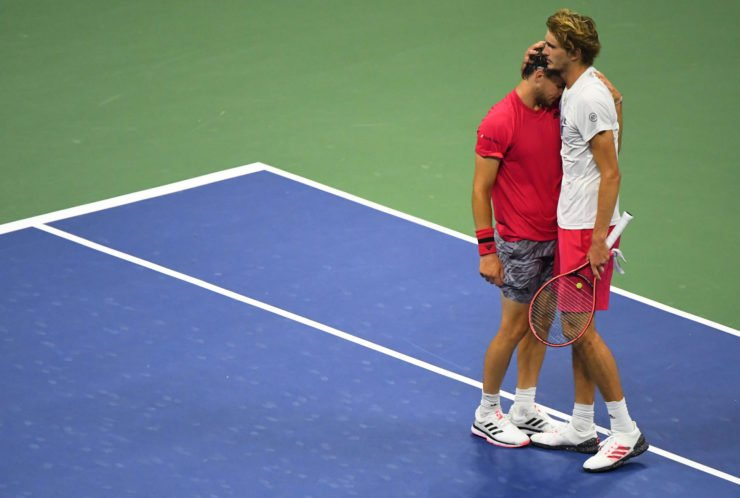 Alexander Zverev and Dominic Thiem at US Open 2020 finals