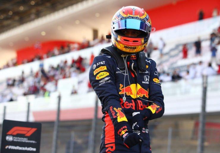 Alex Albon Celebrates His Podium At Tuscan GP