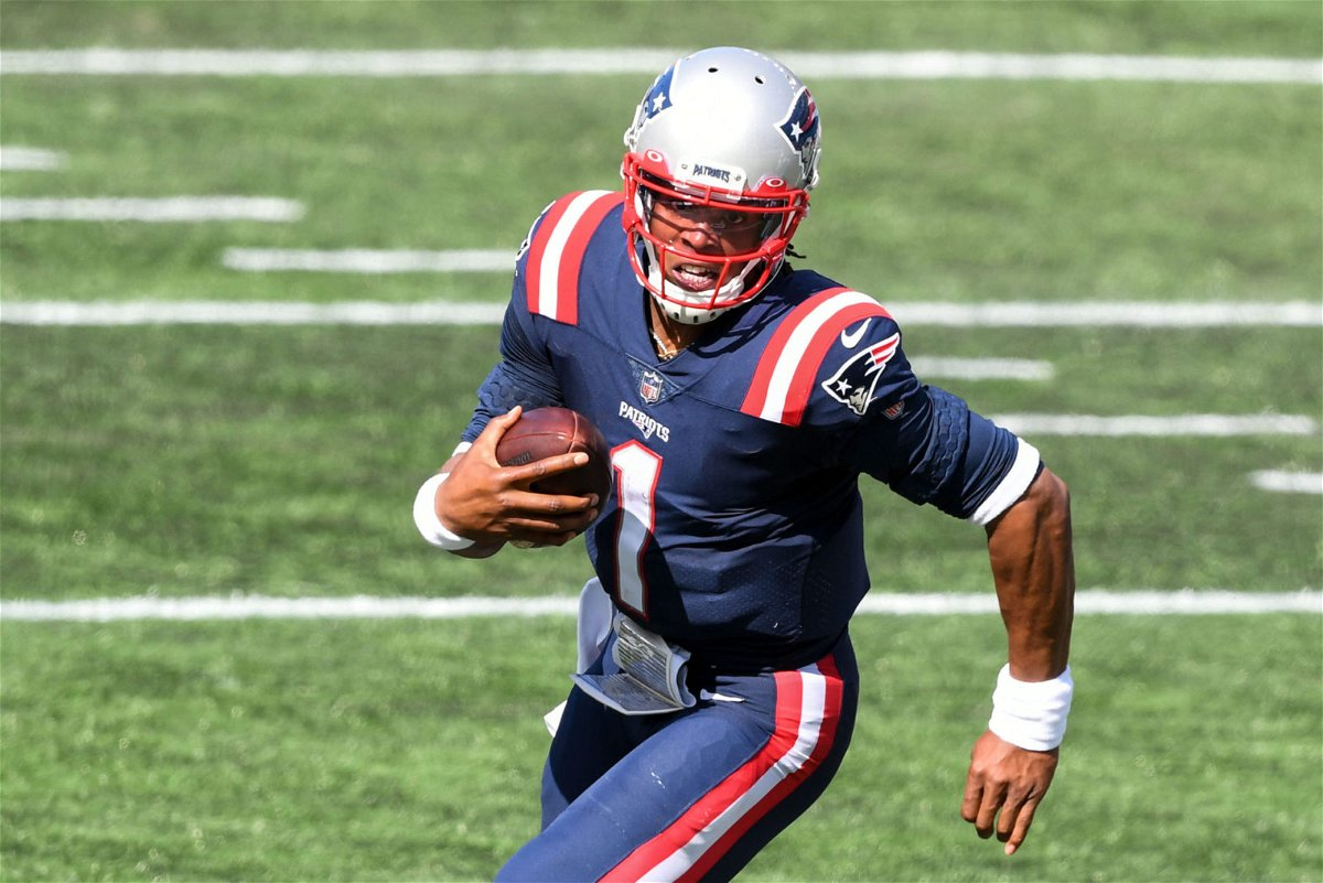 New England Patriots quarterback Cam Newton makes a run towards the End Zone against Miami Dolphins on in Week One.