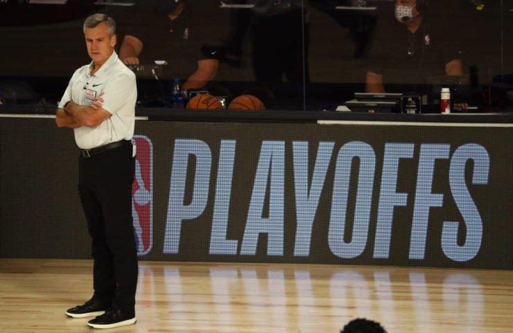Oklahoma City Thunder head coach Billy Donovan