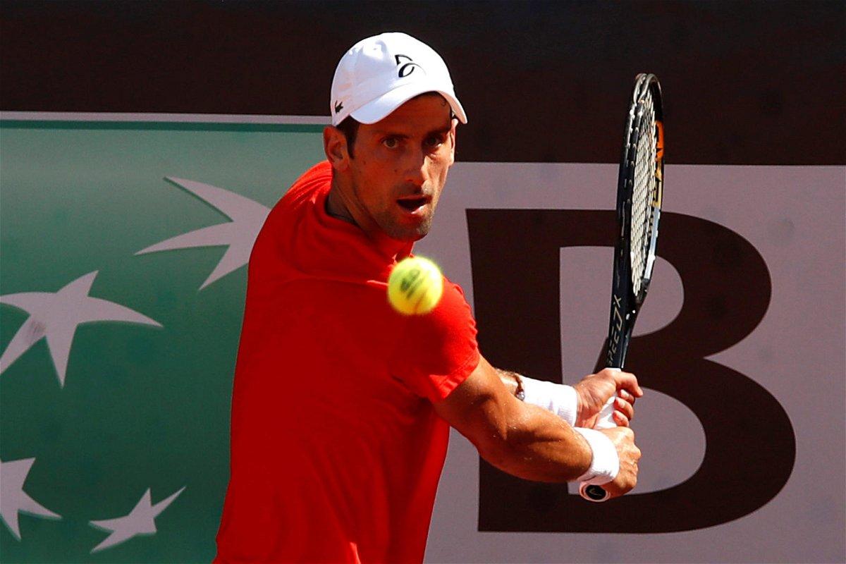 Novak Djokovic at US open 2020