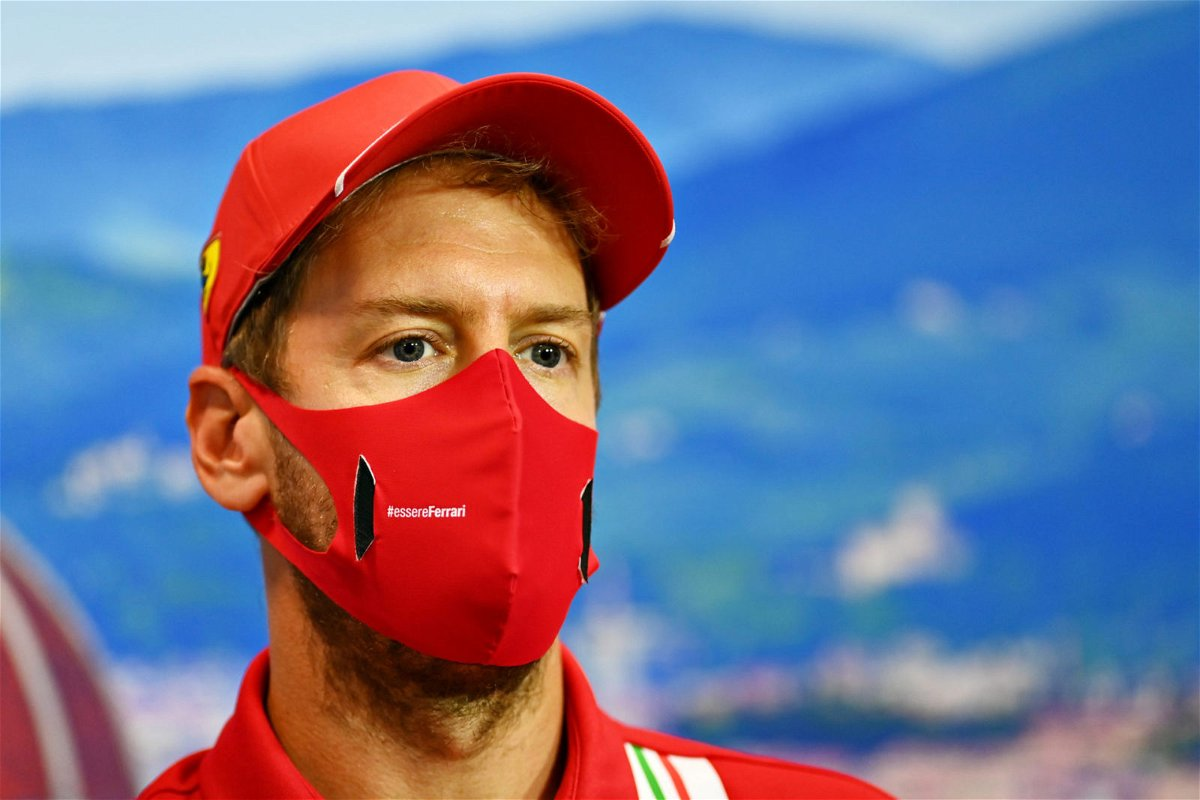 Sebastian Vettel during Press Conference at Tuscan Grand Prix, 2020