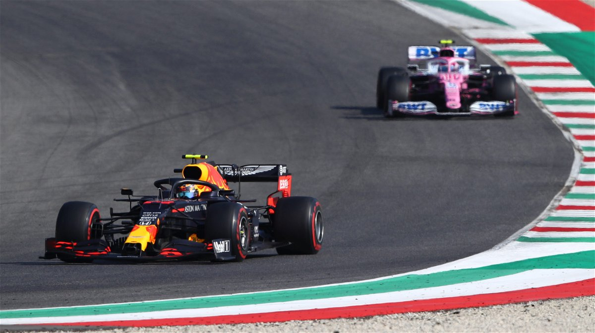 Watch Debris From Lance Stroll S Crash Hits Alex Albon During Mugello F1 Race Essentiallysports