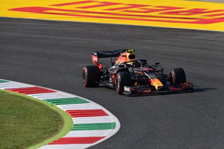 Red Bull F1 driver Alex Albon during the Tuscan Grand Prix in Mugello